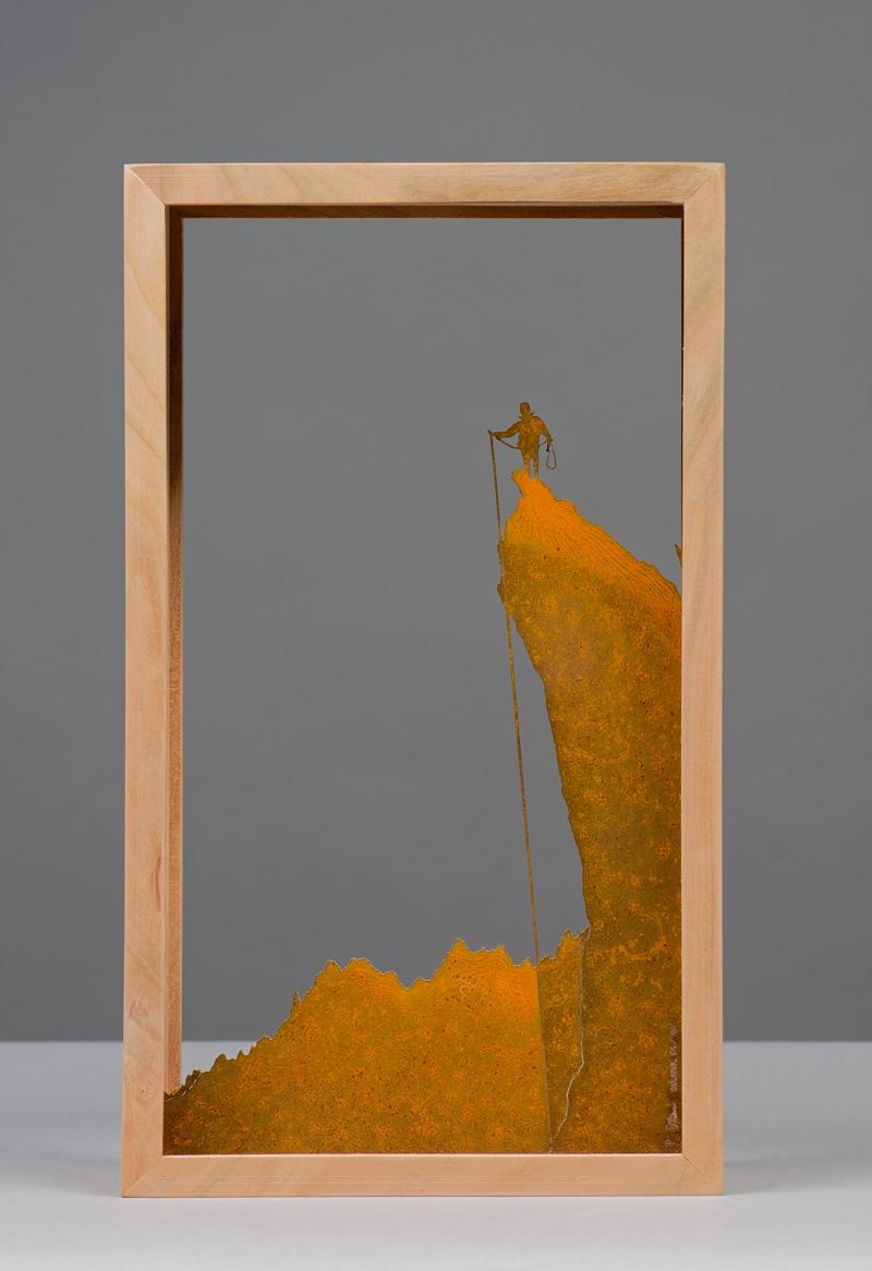 COLONEL (da soggetto fotografico di M. Colonel), vista d'insieme della scultura (foto di Nicola Dell'Aquila)