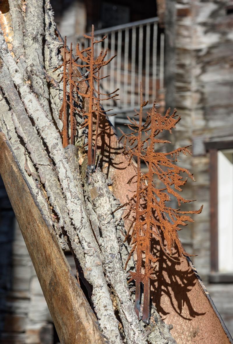 ALPHORN dettaglio alberi in CORTEN  (foto di Nicola dell'Aquila)