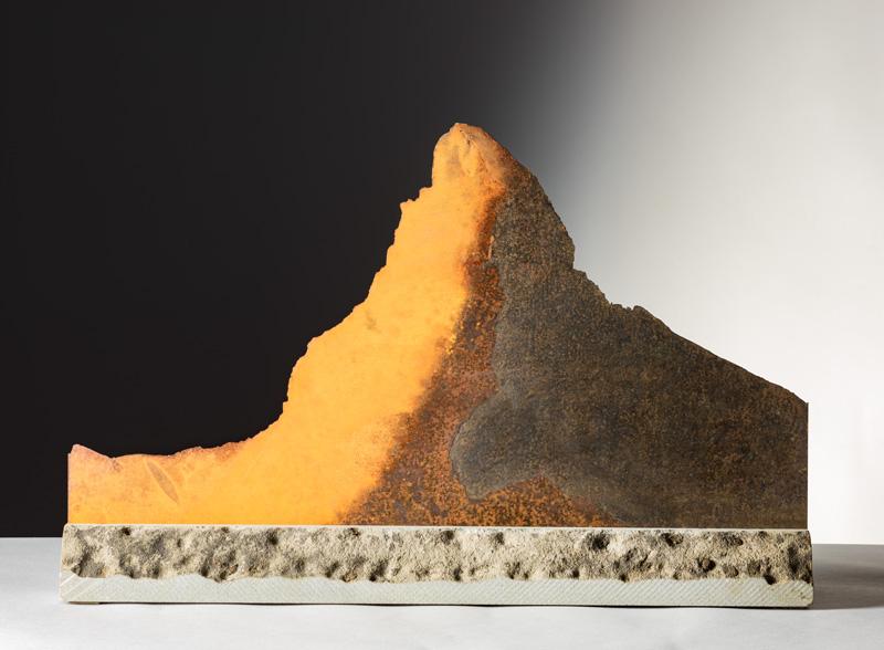 CERVINO, vista d'insieme della scultura (foto di Nicola Dell'Aquila)