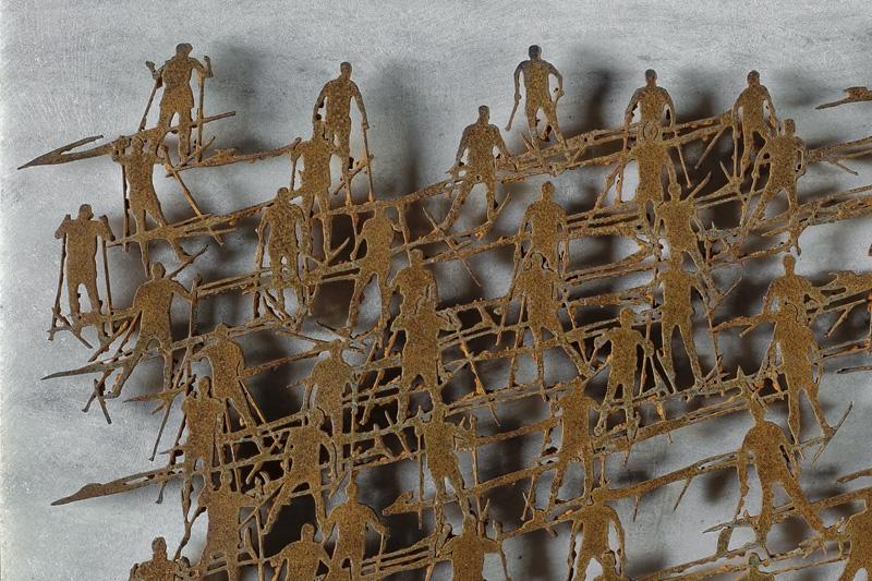 SKY MARATHON, dettaglio della scultura (foto di Nicola Dell'Aquila)