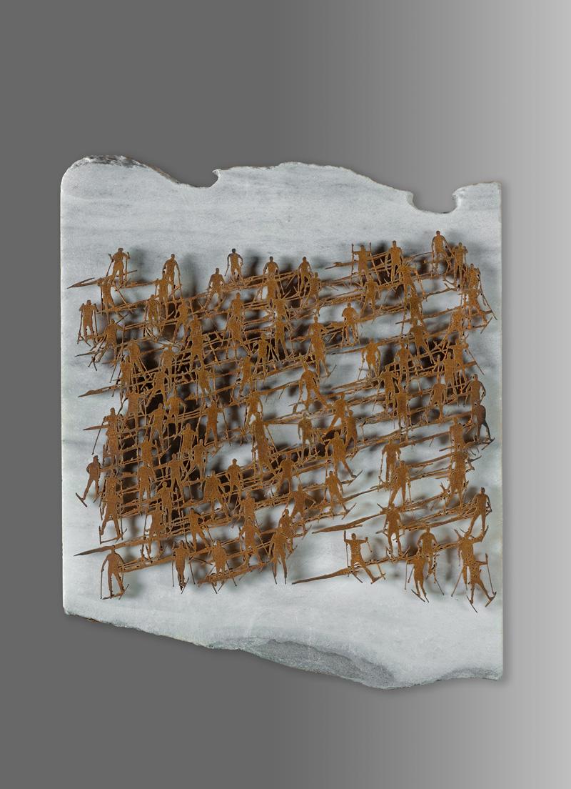 SKY MARATHON, vista d'insieme della scultura (foto di Nicola Dell'Aquila)