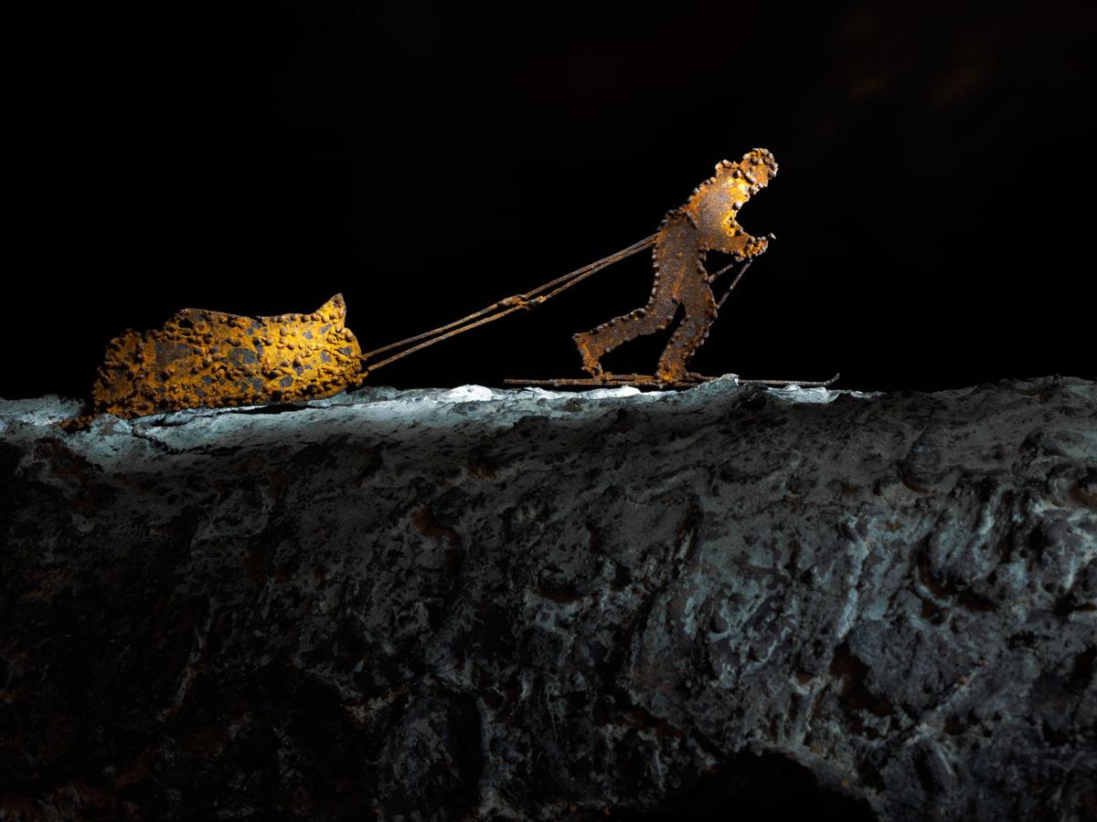 VINCENT MUNIER, dettaglio della scultura (foto di Nicola Dell'Aquila)
