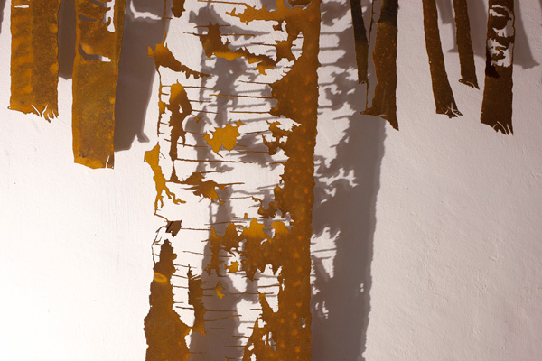 Il bosco di betulle -  dettaglio della scultura -  (foto di Nicola Dell'Aquila)