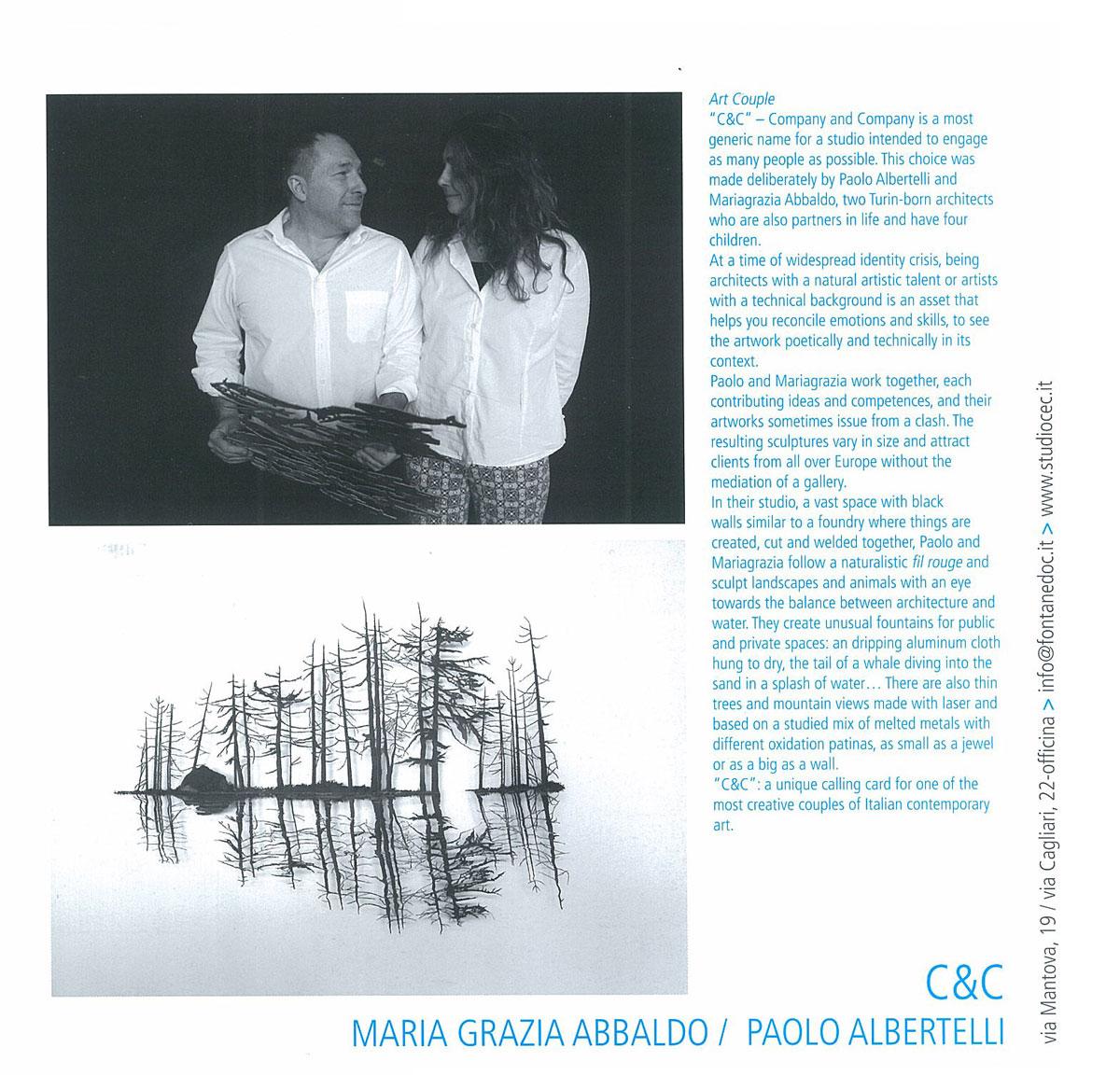 Paolo Albertelli e Mariagrazia Abbaldo, Studio C&C