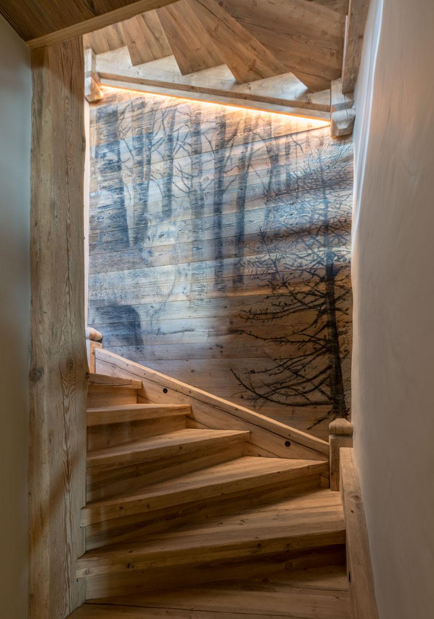 LE LOUP, grafite su legno, 2500 x 2500 mm